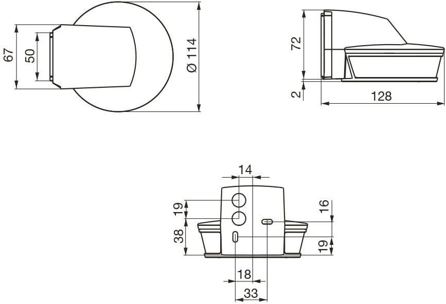240V black 2000/W Steinel sensIQ S White Motion Detector 300//° |20/M Sensor Protection 034979 2000W