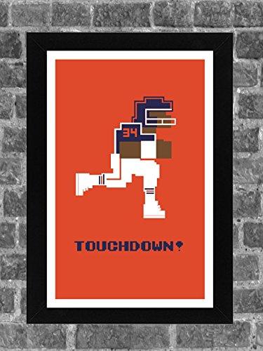 Chicago Bears Walter Payton Tecmo Bowl Sports Print Art 11x17 -