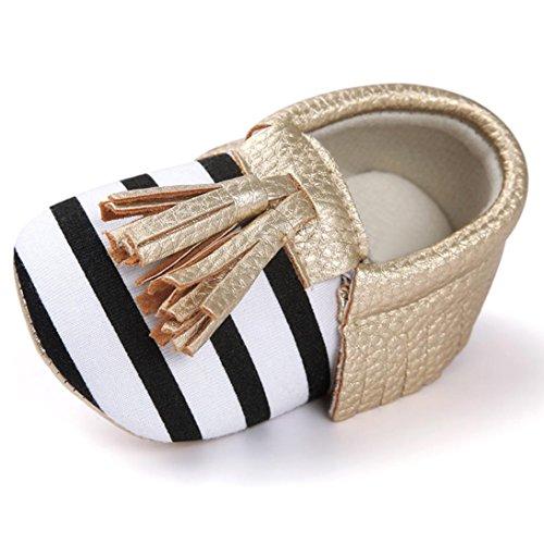 Baby Mädchen Lauflernschuhe-Omiky® Mädchen Lauflernschuhe Krabbelschuhe Babyschuhe in verschiedenen Farben Quasten Bowknot Shoes Gold
