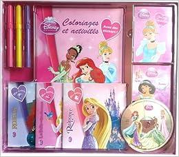 Coffret Disney Princesses 1 Livre Coloriages Et Activites