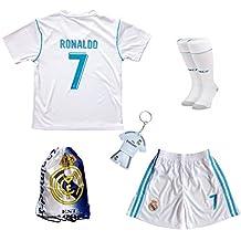 2016/2017 Real Madrid Cristiano Ronaldo #7 Home Football Soccer Kids Jersey & Short & Sock & Soccer Bag Youth Sizes