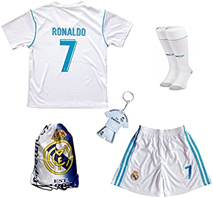 GamesDur 2016 2017 Real Madrid Cristiano Ronaldo  7 Home Football Soccer Kids  Jersey   Short   Sock   Soccer Bag Youth Sizes (3-4 YEARS)  Amazon.co.uk   ... 4adf928ce