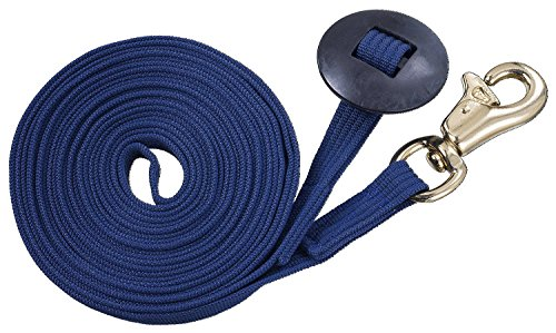Pessoa Training System (Tough 1 German Cord Cotton Lunge Line with Heavy Snap, Navy Blue)