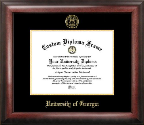 Campus Images University of Georgia Gold Embossed Diploma Frame