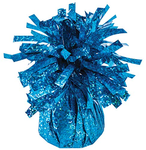 Balloon Weights Holographic Peacock Blue (12/Pkg) Pkg/1