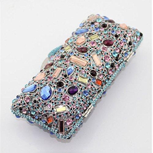 Diamant à De Pour Mode En De Soirée Sac Sac Blue Main Femme qTO6tnwx