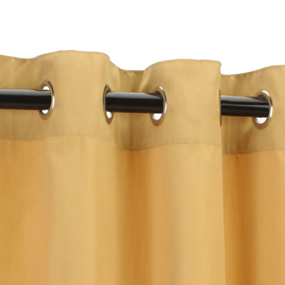 Sunbrella Outdoor Curtain-Nickle Grommets-Wheat