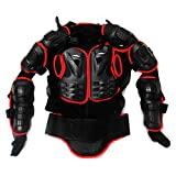 Motorcycle Racing Enduro Body Armor Spine Chest Protective Gear Motocross ATV UTV Accessories Safety Protector Outdoor Sport Red Jacket Size M For HONDA TRX500FPM 2008 2009 2010 2011 2012 2013 2014