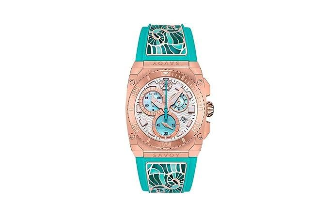 Savoy Icon Light Chrono Women's watch rose gold turquoise