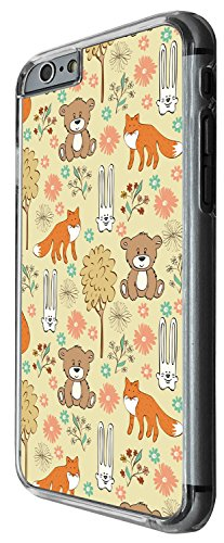 1518 - Cool Fun Trendy cute kwaii animals school sketch illustration funny cartoon fashion bunny fox bear Design iphone 5 5S Coque Fashion Trend Case Coque Protection Cover plastique et métal - Clear