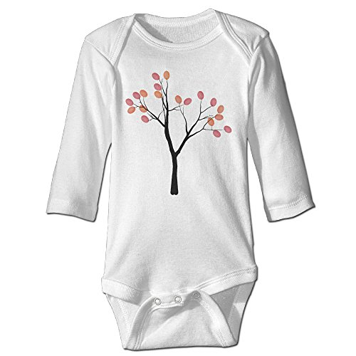 mzone-fingerprint-tree-long-sleeve-romper-bodysuit-for-6-24-months-infant-size-6-m-white