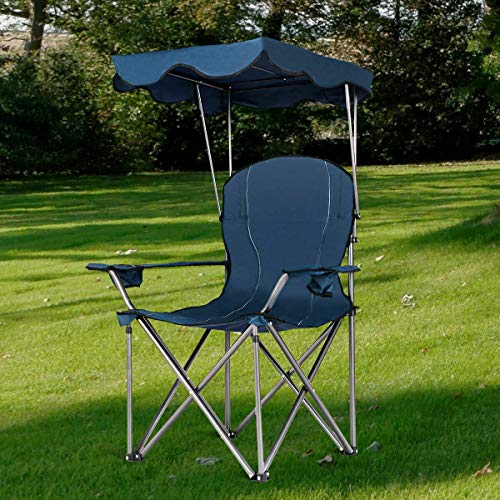 Stark Item Portable Folding Beach Canopy Chair W/Cup Holders Bag Camping Hiking Outdoor (Store Beach Umbrella Near Me)
