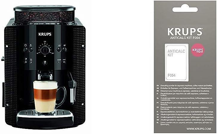 Krups EA8108 CAFETERAS, 1450 W, 1 Cups, Acero Inoxidable, Negro + F0540010 Kit descalcificación, Plastic: Amazon.es: Hogar