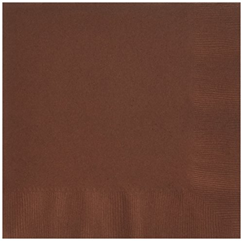 Chocolate 3 Ply (Disposable 3-Ply Dinner Party Napkins Tableware, Chocolate Brown, Paper , 7