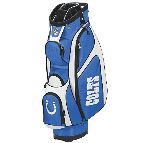 Wilson NFL Indianapolis Colts Cart Golf Bag, Blue/White, One (Indianapolis Colts Golf Cart Bag)