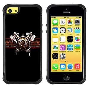 Suave TPU GEL Carcasa Funda Silicona Blando Estuche Caso de protección (para) Apple Iphone 5C / CECELL Phone case / / Warrior Shield & Ace /