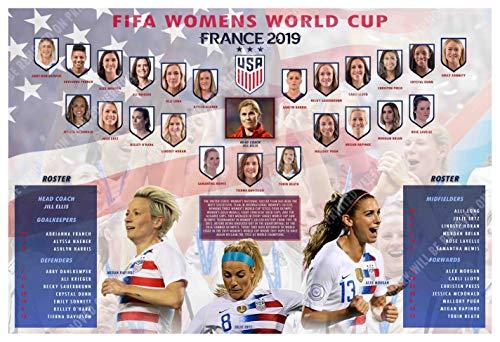 PosterWarehouse2017 The 2019 U.S. Women's World Cup Soccer Team Commemorative Poster