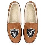 Oakland Raiders NFL Mens Exclusive Beige Moccasin - L