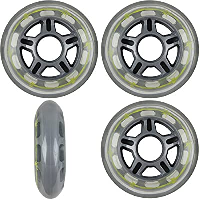 Pro Stock Barbed Wire 80mm 79a Roller Inline Skate Wheels 4-Pack : Inline Skate Replacement Wheels : Sports & Outdoors