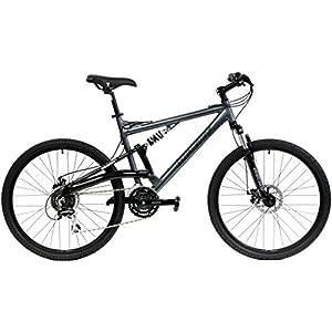Gravity FSX 1.0 Dual Full Suspension Mountain Bike (Gray, 21in) 2018