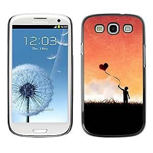 Paccase / SLIM PC / Aliminium Casa Carcasa Funda Case Cover para - Heart Love Balloon Romance Boy Sky Romance - Samsung Galaxy S3 I9300