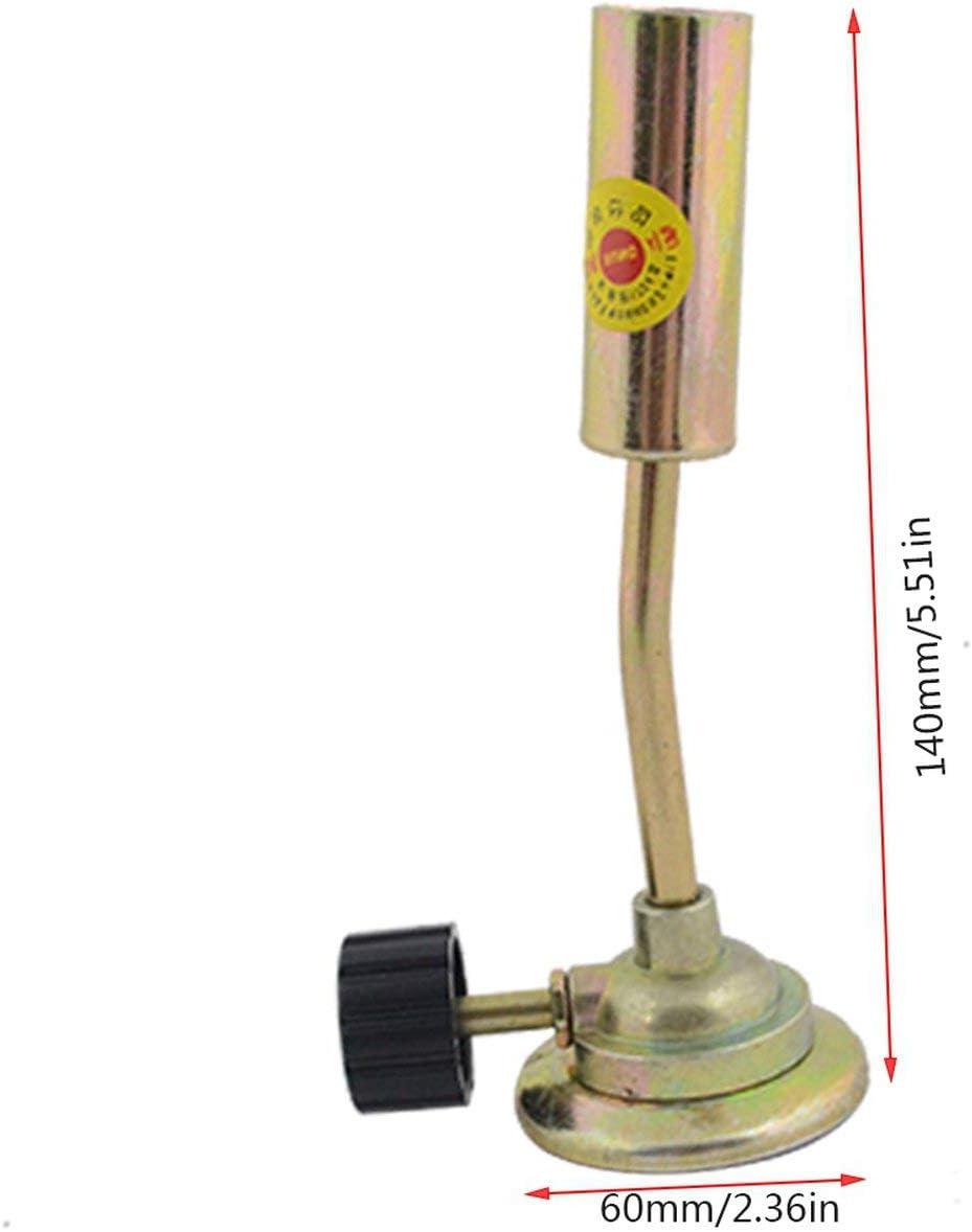 Tubo port/átil de soldadura de gas butano Antorcha soplador Lanzallamas Quemador Camping Soldadura BBQ Tool para equipo de soldador