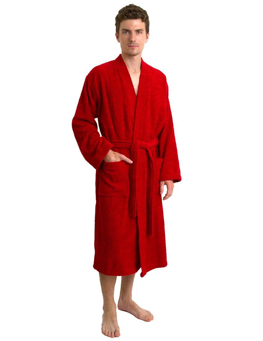 TowelSelections SLEEPWEAR メンズ B00TQ8F28W X-Small/Small|レッド レッド X-Small/Small