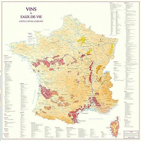 Mapa de Francia de Appellation d Origine vinos y licores: Amazon.es: Hogar