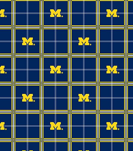 Flannel Cotton College University of Michigan Wolverines Flannel Print Fabric By the ()