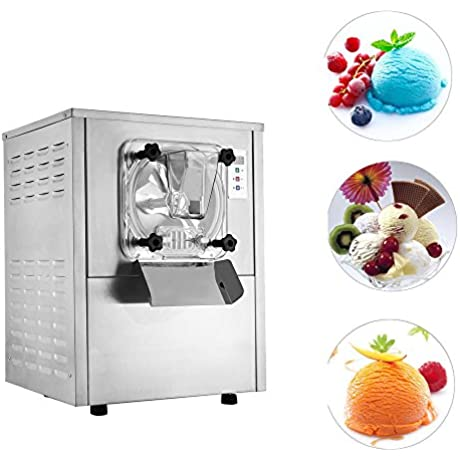 Mophorn Ice Cream Machine Commercial 1400W Hard Serve Ice Cream Machine LCD Display Ice Cream Maker Machine 20 L Per Hour Hard Ice Cream Machine