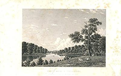 Licking River Kentucky 1860 old engraved view print