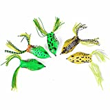 Best The Jumping Frog Meals - Jahyshow Hollow Frog Fishing Lures Soft Topwater Baits Review