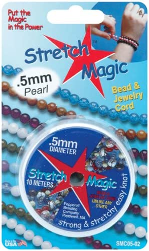 Pepperell Stretch Magic 0.5mm Bead and Jewelry Cord Clear 100m