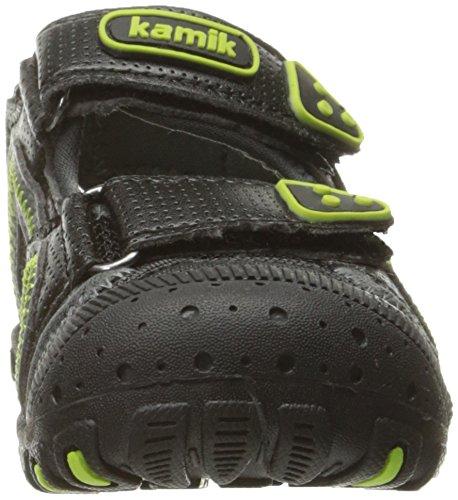 KamikSeaturtle - Sandalias Atléticas Unisex Niños Schwarz (BLACK/LIME-NOIR/LIME)