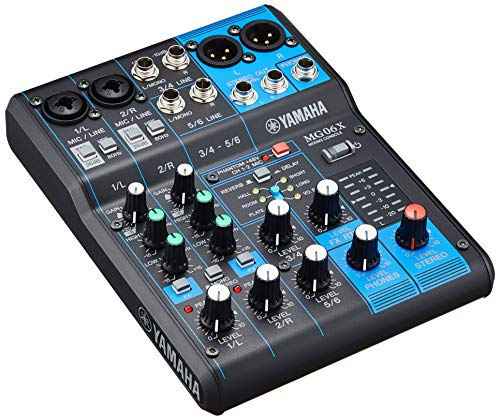 YAMAHA 6-channel mixing console built-in digital effects MG06X (Consoles Yamaha Mixing)