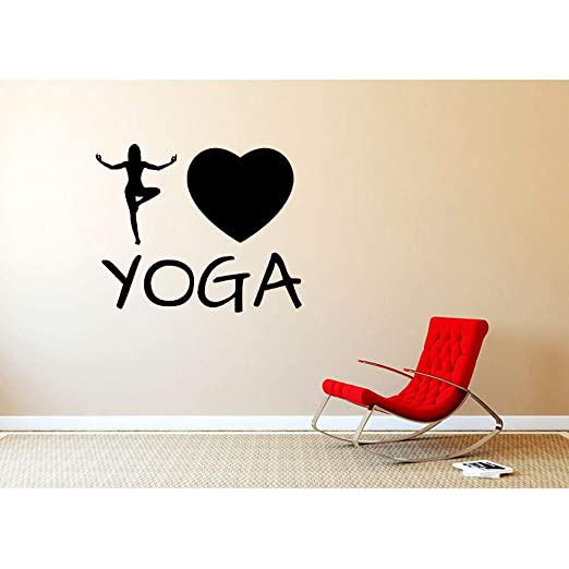 Tatuajes de pared Patrón creativo Yoga Heart Decor I Love ...