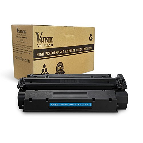 V4INK New Compatible High Yield C7115X Toner Cartridge Replacement for use with HP 15X HP LaserJet 1000 HP LaserJet 1005 1150 HP LaserJet 1200 1300 HP LaserJet 3300 3310 3320 ()