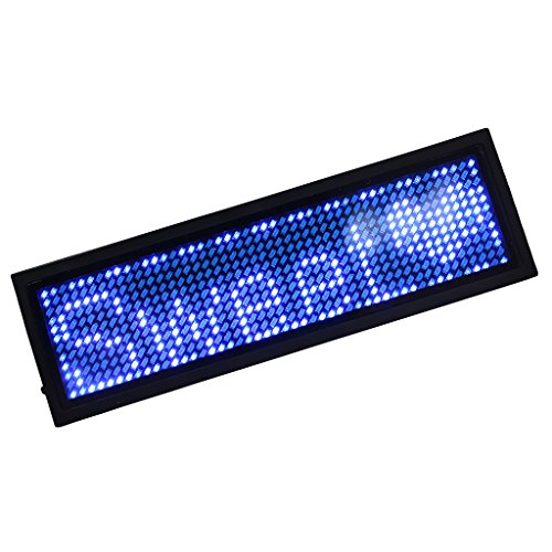 MagiDeal Programmable LED Scrolling Bar Badge Name Tag Message Sign 6 Colors - (Led Message Badge)