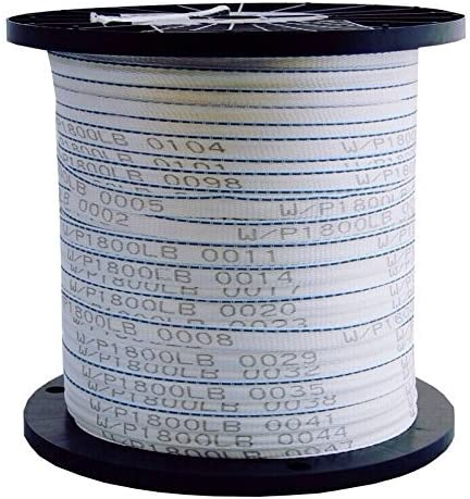 Many Strengths and Lengths Available 1000 FT USA Made 6000 Lb 1 Pull Tape//Mule Webbing