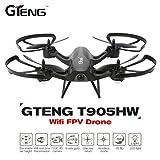 Leewa@ Gteng T905HW Wifi FPV 720P Camera 2.4G 6 Axis Gyro 3D Flip Headless Altitude Hold RC Quadcopter -Black