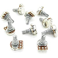 A250k OHM Audio POTS Guitar Potentiometers 18mm Shaft Volume and Tone Controls Pack Of 10