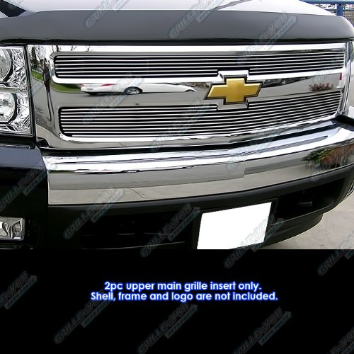 APS Polished Chrome Billet Grille Grill Insert (Billet Grills Chevy Silverado)