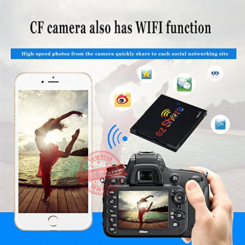 New hot Sold Ez Share WiFi cf Card 32G DLSR Camera Wireless Canon 7D highspeed 5D2 Compact Flash Memory Card WiFi Card (32GB) by EZ SHARE (Image #3)