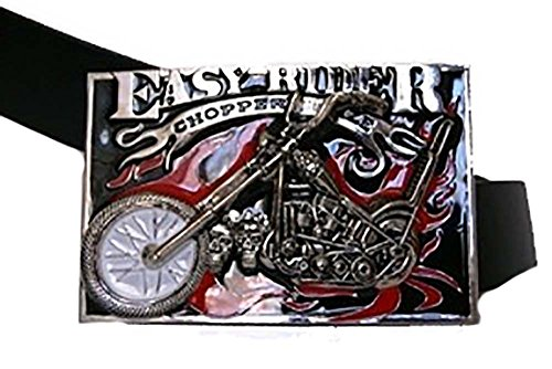ALBATROS Easy Rider Ride Chopper Bike Biker Motorcycles Metal Belt Buckle for Home and Parades, Official Party, All Weather Indoors Outdoors (Buckle Elvis)