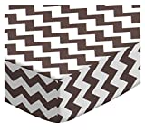 SheetWorld Crib Sheet Set - Brown Chevron Zigzag - Made In USA