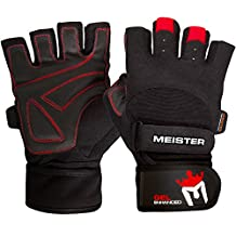 Meister Wrist Wrap Weight Lifting Gloves w/ Gel Padding