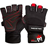 Best Harbinger Gloves Gyms - Meister Wrist Wrap Weight Lifting Gloves w/ Gel Review