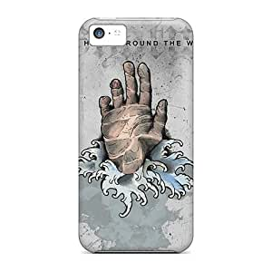 Excellent Hard Phone Cover For Iphone 5c (ZTB388HMfw) Provide Private Custom Attractive Rise Against Pictures