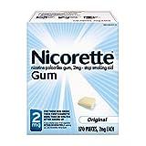 Nicorette Nicotine Gum, Stop Smoking Aid, 2mg, Original Flavor, 170 count