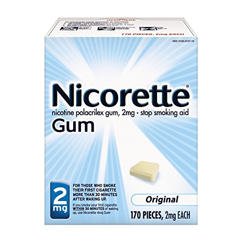 - Nicorette Nicotine Gum to Stop Smoking, 2mg, Original, 170 Count